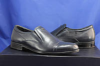 Мужские классические туфли из гладкой натуральной кожи синие VASLAV, фото 1