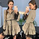 Женское стильное платье с кружевом (в расцветках), фото 6
