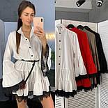 Женское стильное платье с кружевом (в расцветках), фото 8