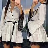 Женское стильное платье с кружевом (в расцветках), фото 7