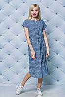 Платье летнее миди клетка, фото 1