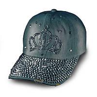Женская джинсовая бейсболка Корона, кепка  Denim