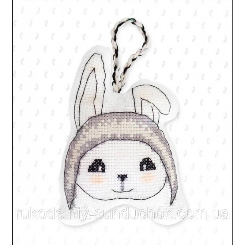 Набор для вышивки крестом Luca-S Ёлочная игрушка - JK018 Зайчик