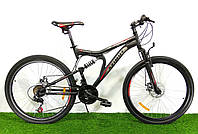 Двухподвесный горный велосипед Azimut Blaster 24 D+ Черно-красный