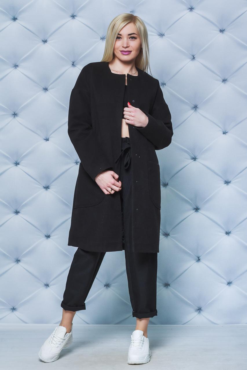 Пальто кашемировое черное