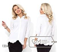 Женская рубашка из коттона (2 цвета) - Белый НК/-2721, фото 1