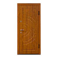 """Входная дверь """"МИНИСТЕРСТВО ДВЕРЕЙ"""" ПО-08 V Дуб золотой, Vinorit (высота 1900)"""