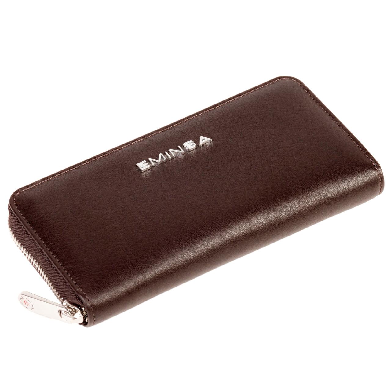 Женский кошелек кожаный коричневый Eminsa 2036-12-3