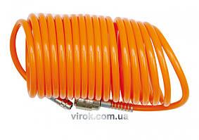Шланг пневматический спиральный VOREL 6 х 8 мм 5 м