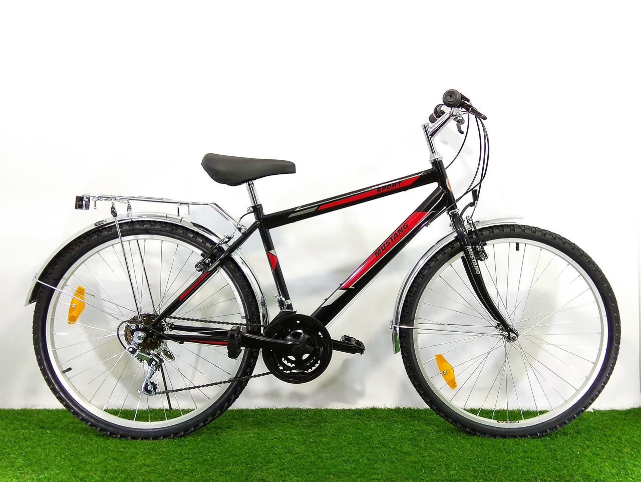 Дорожный велосипед Mustang Upland 26*160 Черно-красный