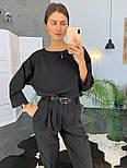 Женский модный брючный костюм (в расцветках), фото 3