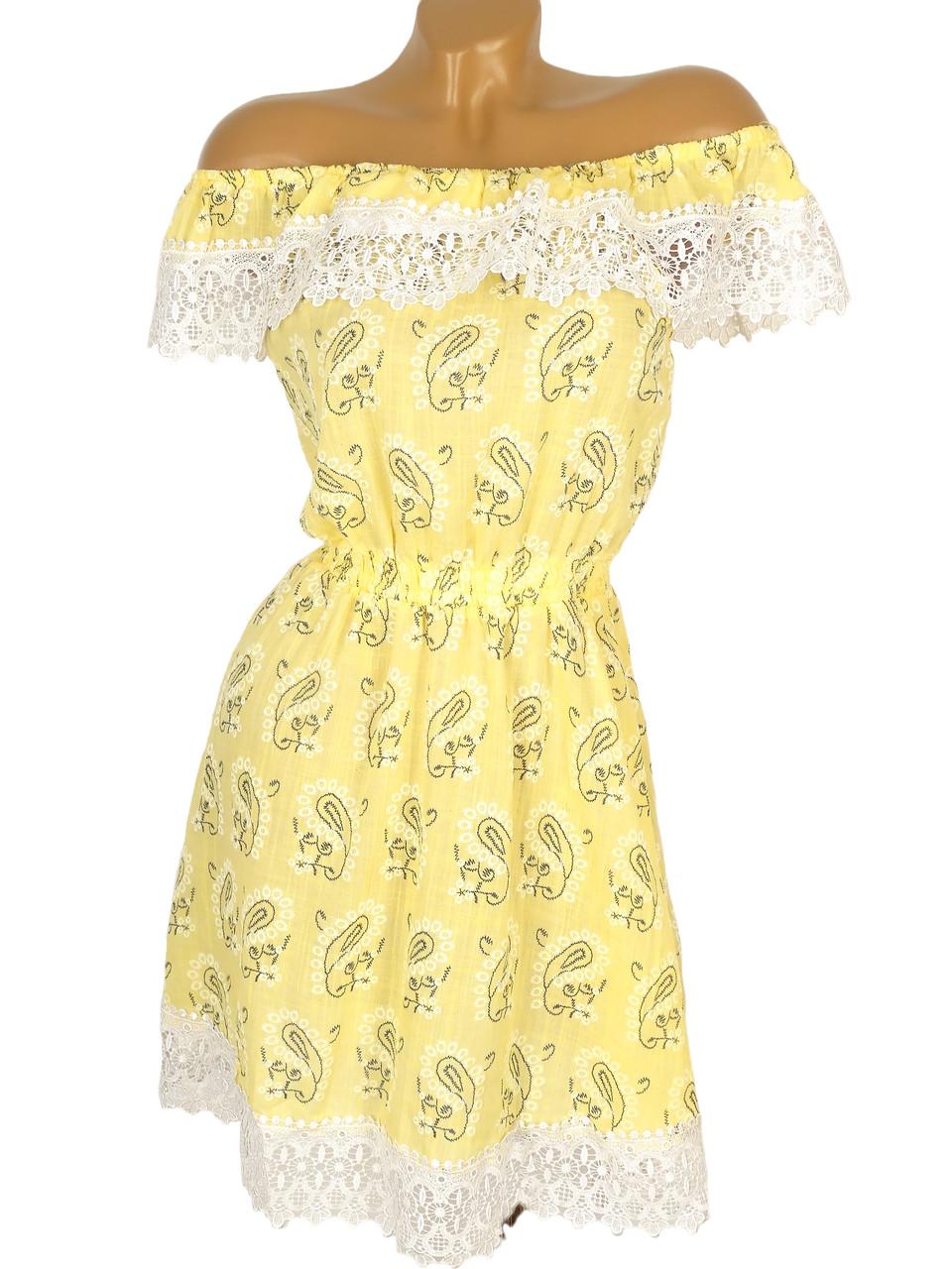 Летнее платье мини в турецкий огурец (в расцветках)