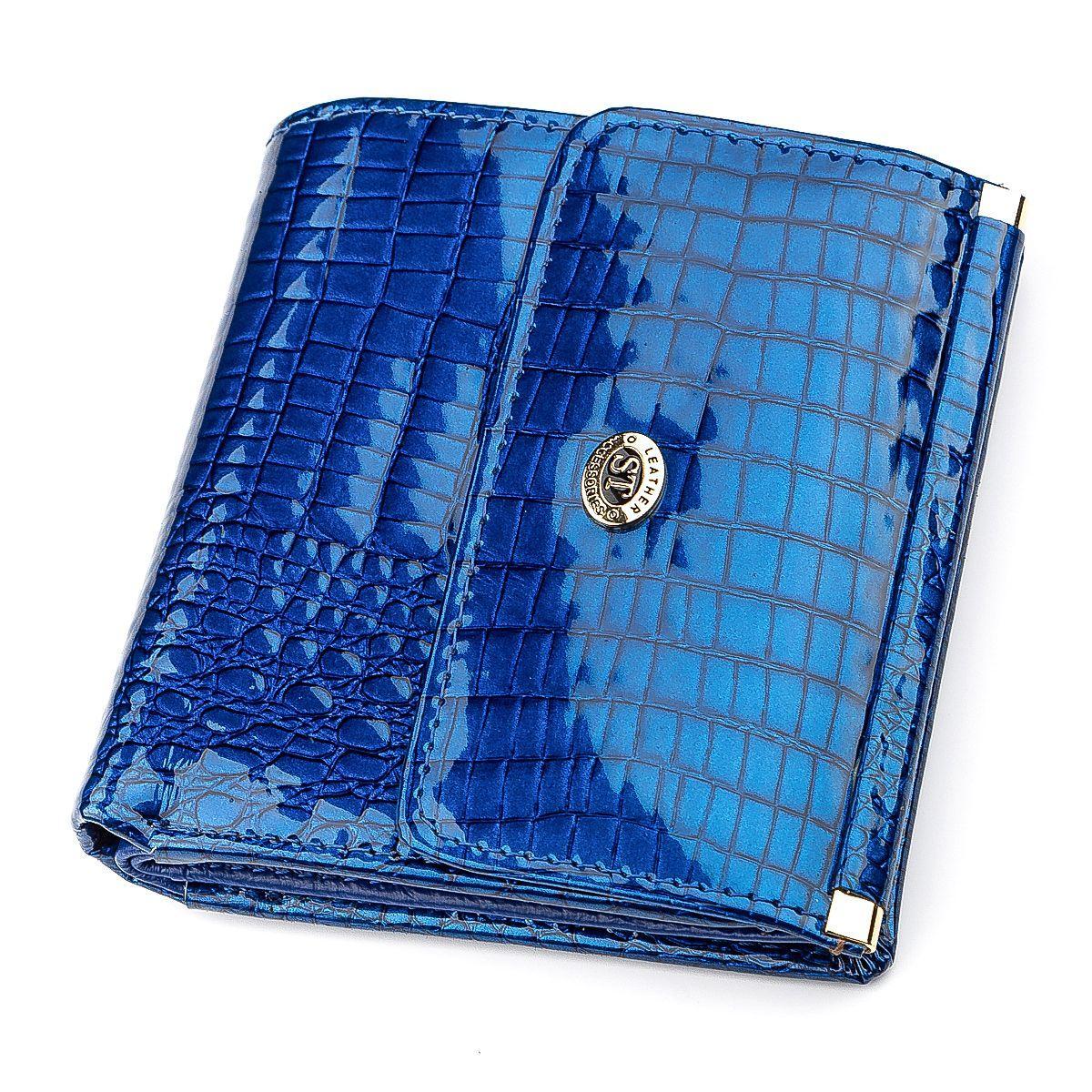 Кошелек женский ST Leather 18356 (S1101A) кожаный Синий, Синий
