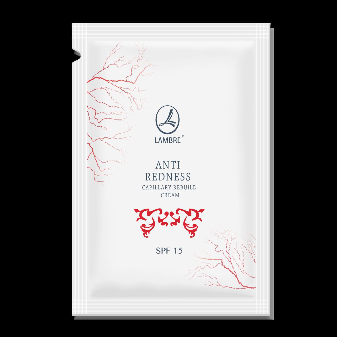 ТЕСТЕР Зміцнюючий крем ANTI RENDESS CAPILLARY REBUILD CREAM SPF 15 для шкіри схильної до куперозу 2 мл