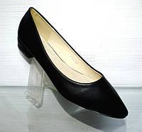 Удобные женские туфли-балетки черного цвета