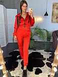 Женский модный атласный повседневный костюм с молниями (в расцветках), фото 3