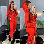 Женский модный атласный повседневный костюм с молниями (в расцветках), фото 4