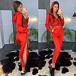Женский модный атласный повседневный костюм с молниями (в расцветках), фото 6