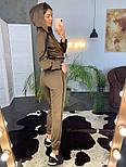 Женский модный атласный повседневный костюм с молниями (в расцветках), фото 8