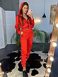 Женский модный атласный повседневный костюм с молниями (в расцветках), фото 10
