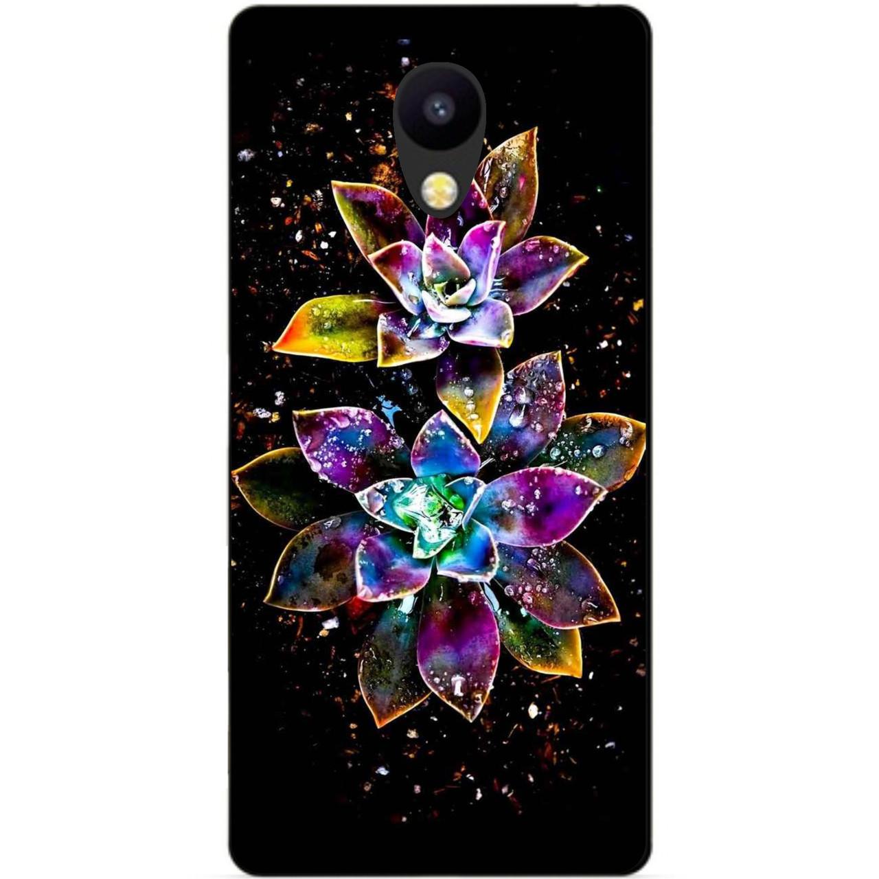 Силиконовый чехол для Meizu M5c с рисунком Волшебные цветы