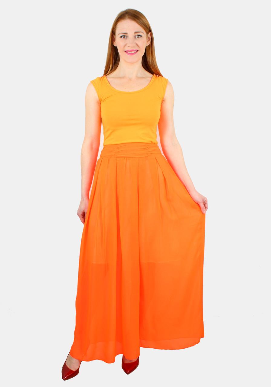 Сарафан с шифоновой юбкой 42-48 р ( разные цвета )