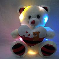 Мягкая игрушка светящийся мишка с сердечком