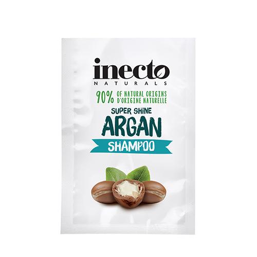 ТЕСТЕР Увлажняющий шампунь для блеска волос с аргановым маслом Inecto Naturals Argan Shampoo 10 ml