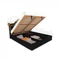 Двоспальне ліжко 160х200 з підйомним механізмом у спальню Дженніфер Чорний Глянець Міромарк