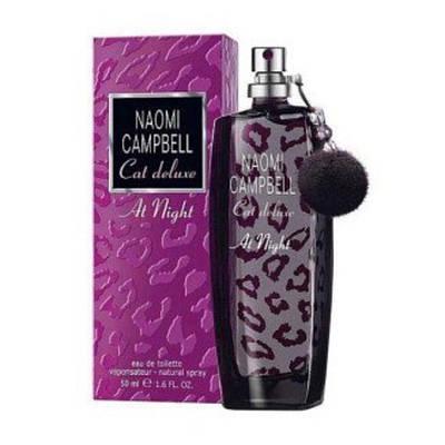 Французькі жіночі парфуми NAOMI CAMPBELL Cat Deluxe At Night 30ml, вечірній квітково-фруктовий аромат ОРИГІНАЛ