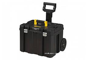 Ящик для інструменту STANLEY FatMax TSTAK на 2 колесах і з телескопічною ручкою, 43х 63х 49 см