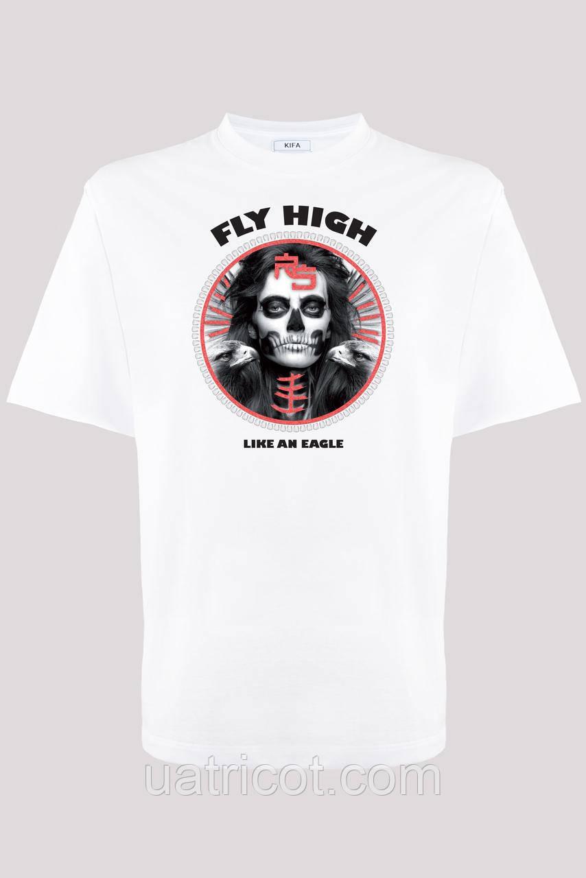 Футболка мужская KIFA ФМХ-019/15 FLY HIGH белая