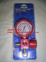 Манометрический коллектор одновентильный VMG-1-U-H  R-22 R-134 R-410 R-407 высокое давление