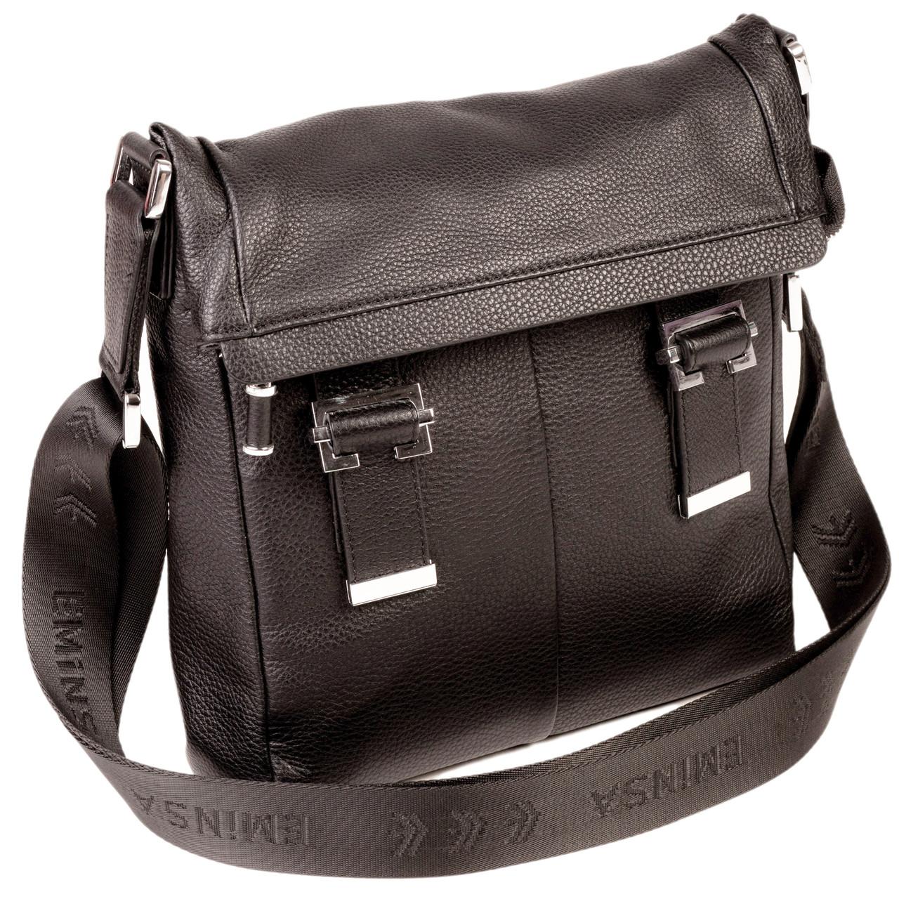 Мужская сумка Eminsa 6082-18-1 кожаная черная