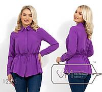 Женская рубашка с кулиской на талии (4 цвета) - Фиолетовый НК/-2816, фото 1