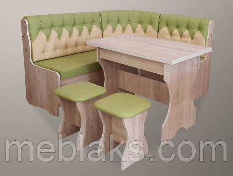 Кухонный комплект «Мираж» (стол+2 табуретки)  комбинированный