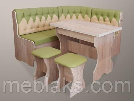Кухонный комплект «Мираж» (стол+2 табуретки)  комбинированный, фото 2