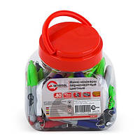 ✅ Мини-маркеры перманентные цветные, L= 93 мм, 80 шт/упак. (черный, синий, зеленый, красный) INTERTOOL KT-5011