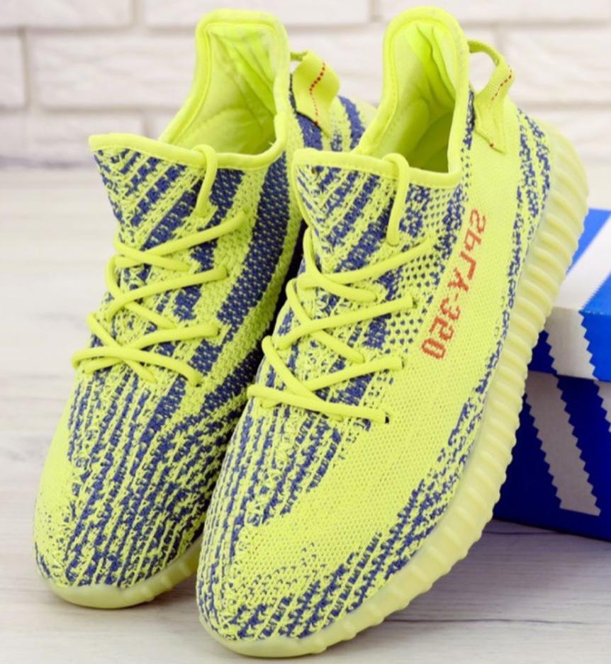 Мужские кроссовки Adidas Yeezy Boost 350 Yellow
