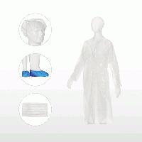 Комплект посетителя MED COMFORT Ampri (халат, шапочка, маска, бахилы) 10 шт