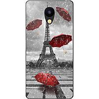 Силиконовый бампер чехол для Meizu M5c с рисунком Париж