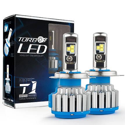 Светодиодные LED лампы T1-H4 для автомобиля, автолампы TurboLed, фото 2