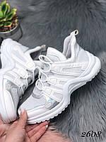 Кроссовки  LV белые, фото 1