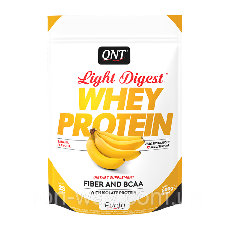 QNT Light Digest Whey Protein 500 g (Банан)