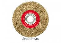 Щетка-крацовка плоская VOREL Ø=125 мм