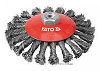 Щетка-крацовка YATO Ø=125 мм