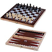 Шахматы шашки нарды деревянные Chess 3 в 1 (F 22016)