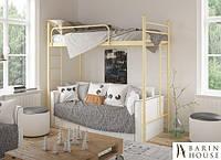 Кровать Эдельвейс Чердак_80х190_белый, бежевый, коричневый, черный бархат, черный (глянец)