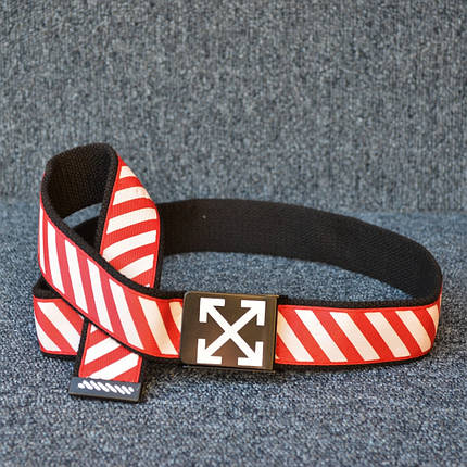 Ремень Off-White Black/Red/White, фото 2