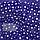 Бязевая тонкая пелёнка (польская бязь) 100х80 см детская для пеленания новорожденного в роддом 4688 Синий, фото 3